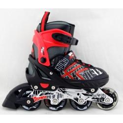 Sportera Action Red bērnu regulējamās skrituļslidas, ledus slidas