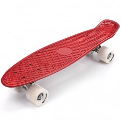 Meteor red/white penny board skrituļdēlis