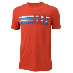 Wilson M T-SHIRT STRIPE TECH TEE T- krekls