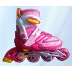 Sportera Action Pink bērnu regulējamās skrituļslidas, ledus slidas