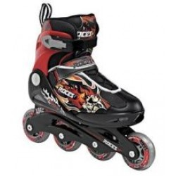 Ropces COMPY 5.0 Boy (BlackRed) 34-37 (400734) skrituļslidas