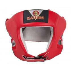 Matsuru Boxing headguard PU XL red boksa ķivere