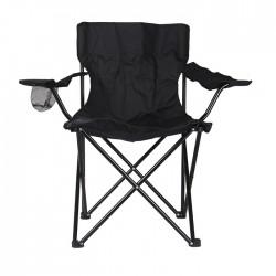 Atom sport Krēsls kempinga  Outdoors 50x80x50cm melns/pelēks