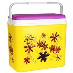 Adriatic Aukstuma kaste 24l, dzeltena ar ziediem