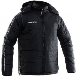 Salming Thermo Flow Jacket Black sporta vējjaka ar kapuci (TFJ1)