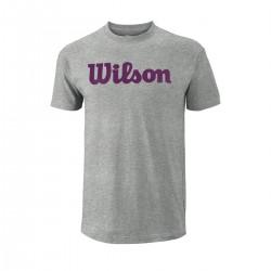 Wilson W T-SHIRT SCRIPT COTTON TEE T- krekls