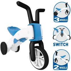 Bērnu balansa velosipēds/trīsritenis 2in1 Chillafish Bunzi Blue