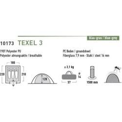 High Peak Texel 3 kupolveida telts (10173)