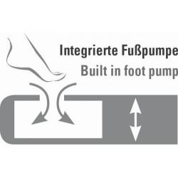 High Peak Multi Comfort Plus Airbed piepūšamā gulta ar integrētu kājas pumpi (40053)